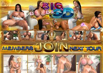 Huge 3D Tits